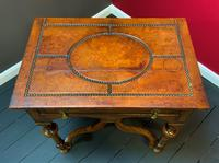 Outstanding William & Mary Style Leather & Stud Bound Country Oak Lowboy Table (10 of 18)