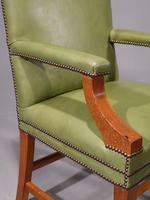 Sturdy Pair of Early 20th Century Mahogany Framed Desk of Library Chairs (3 of 5)