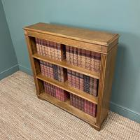 Quality Edwardian Oak Antique Open Bookcase (3 of 5)