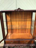 Antique Burr Walnut Display Cabinet (5 of 10)