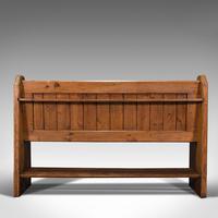 Antique Bench Seat, English, Pine, Pew, Ecclesiastic Taste, Victorian c.1900 (6 of 12)