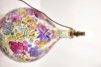 1960s Hand Painted Demi John Lamp with Floral Pattern (18 of 22)