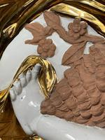 Beautiful Hollywood Regency Style Oversized Porcelain & Terracotta Cherub Floor Vase (45 of 52)