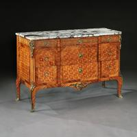 Late 19th Century French Gilt Bronze Mounted Tulipwood & Kingwood Marble Topped Commode (3 of 10)