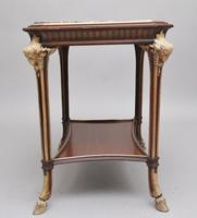 19th Century French Mahogany & Marble Top Occasional Table (5 of 12)
