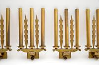 Set of 5 Antique Neo-Classical Brass Wall Sconce Lights (12 of 12)