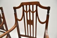 Pair of Antique Edwardian Inlaid  Mahogany Armchairs (7 of 12)