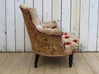 Antique French Button Back Chair For Re-upholstery (5 of 8)