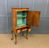Burr Walnut Cupboard on Stand (14 of 15)