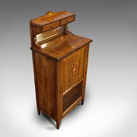 Antique Music Cabinet, English, Rosewood, Side, Hall Stand, Edwardian c.1910 (6 of 12)