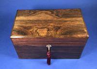 Victorian Single Lidded Rosewood Tea Caddy (4 of 13)