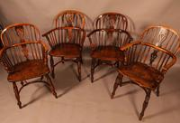 A Set of 4 Yew Tree Windsor Chairs Rockley Workshop (14 of 21)
