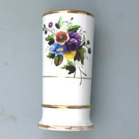 Regency Spode Porcelain Hand Painted Spill Vase Pat 1943 c.1810