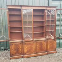 Quality Mahogany Breakfront Library Bookcase made by G T Rackstraw (6 of 6)