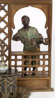 Franz Xavier Bergmann Austria Cold-painted Bronze Coffee Vendor Inkwell Figure (5 of 24)