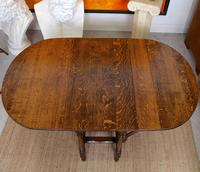 Oak Gateleg Dining Table & 4 Chairs Arts Crafts (11 of 17)