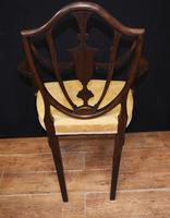 Set 10 Adams Shield Back Dining Chairs Mahogany (9 of 9)
