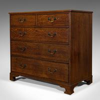 Antique Chest of Drawers, English, Oak, Tallboy, Early Victorian c.1840 (7 of 12)