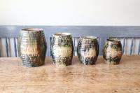 Scottish Pottery Slipware Barrel Storage Jars x4 (4 of 35)