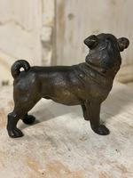 19th Century Painted Terracotta Pug (2 of 3)