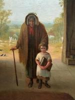'Sunday Morning' An Enchanting Original 19thc Portrait Oil Painting' (9 of 14)