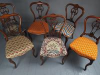 Set of 6 Mid Victorian Rosewood Dining Chairs (10 of 14)