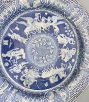 Rare Staffordshire Pearlware Herculaneum Greek Pattern Transferware Plate 1815 (2 of 4)