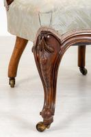 Pretty Pair of Victorian His and Her Walnut Parlour Chairs (2 of 9)