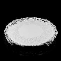 Exceptional Large Solid Sterling Silver Victorian Salver/tray/platter 47cm with Cast Border - Hunt & Roskell - Storr Mortimer & Hunt (4 of 29)
