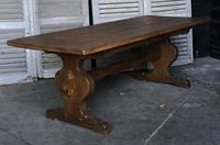 French Farmhouse Trestle Dining Table (10 of 15)