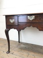 Antique Oak Lowboy Side Table (6 of 10)