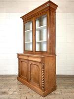 Antique Victorian Mahogany Glazed Bookcase (6 of 9)