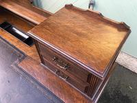 Antique Oak Pedestal Writing Desk (Pri) (4 of 13)