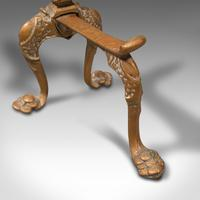 Pair  of Antique Decorative Fireside Tool Rests, French, Brass, Andiron, Victorian (12 of 12)