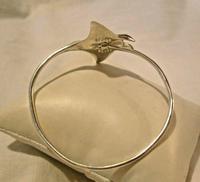 "Vintage Silver 925 Stingray Bangle 1970s Fish Bracelet 7 1/4"" Length 17.8 Grams (7 of 11)"