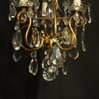 French Gilded Birdcage 4 Light Antique Chandelier (4 of 10)