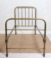 Brass Bed Frame Victorian 19th Century Single Bedframe Cast Iron (3 of 12)