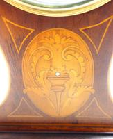 Super Art Nouveau Mantle Clock Tulip Floral Inlay 8 Day Mantle Clock (8 of 15)