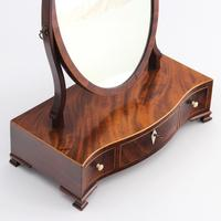 Georgian Serpentine Fronted Oval Mahogany Dressing Table Mirror c.1790 (4 of 10)
