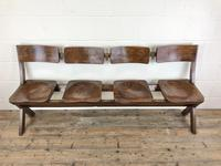 Antique Victorian Elm Four Seater Bench (M-717) (3 of 12)