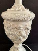 Pair of Plaster Moulded Lamps c.1930 (2 of 5)
