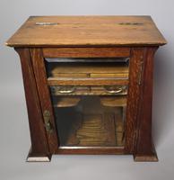 Antique Art Nouveau Oak Smokers Cabinet (5 of 13)