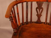 Yew Wood Low Back Windsor Chair Rockley Maker (7 of 10)