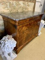 19th Century Burr Walnut Marble Top Commode (5 of 8)