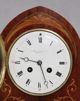 French Belle Epoque Mahogany and Inlaid Mantel Clock (7 of 8)