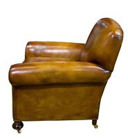 Pair of Leather Club Chairs c.1890 (4 of 11)