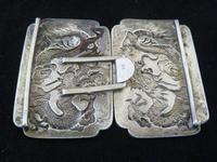 Fine Chinese Silver Buckle # 3 - Dragons , Signed TC (3 of 5)