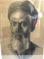 Charcoal Painting Of Man In Turban, Signed And Framed (4 of 9)