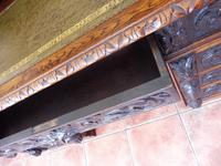 Country Oak Lions Head Pedestal Desk 1850 W M Richardson Ltd (9 of 12)