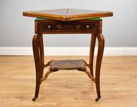 Victorian Rosewood Envelope Card Table (6 of 12)